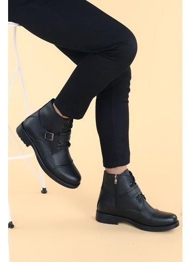 Ayakland Ayakland 02 Gomes Termo Taban ıçi Kürklü Fermuarlı Erkek Bot Ayakkabı Siyah